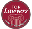 Logo Recognizing Dulaney, Lauer & Thomas's affiliation with Northern Virginia Magazine Top Lawyers